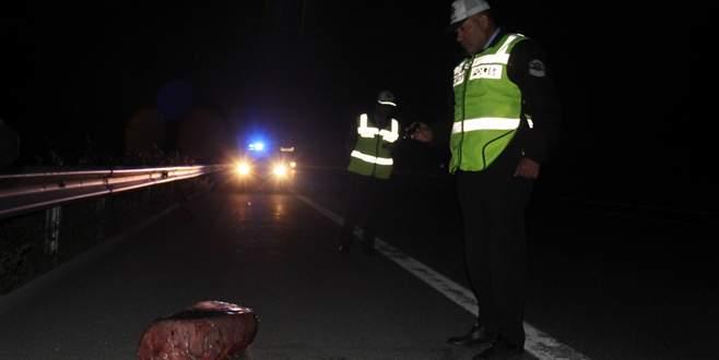 Polisi alarma geçiren şüpheli araçtan et çıktı
