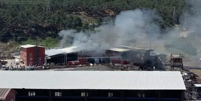 Soma'da korkutan yangın