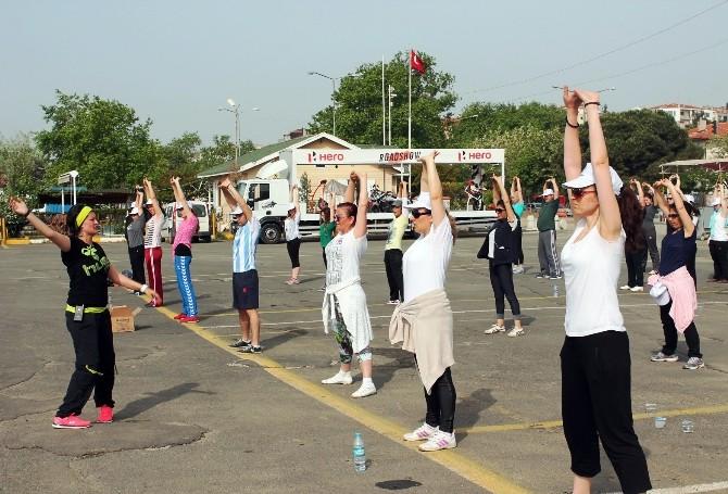 Tekirdağ'da Sabah Sporu: Zumba