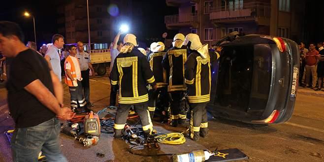 Feci trafik kazası: 1 ölü, 4 yaralı
