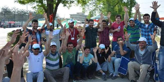 Bursa'da eylemler devam ediyor