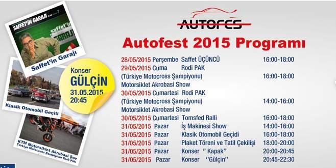 Bursa'yı 'Autofest' heyecanı sardı