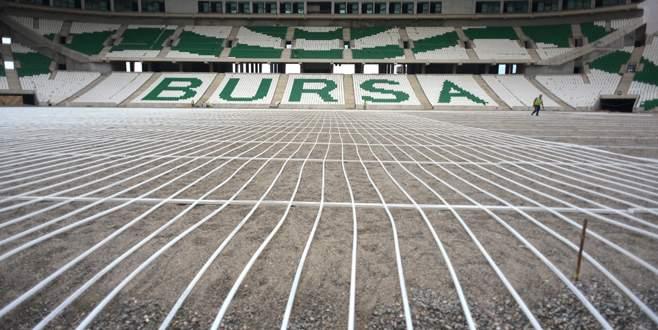 Timsah Arena'da zemin çalışmalarında sona gelindi