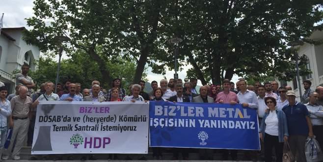 HDP'den termik protestosu
