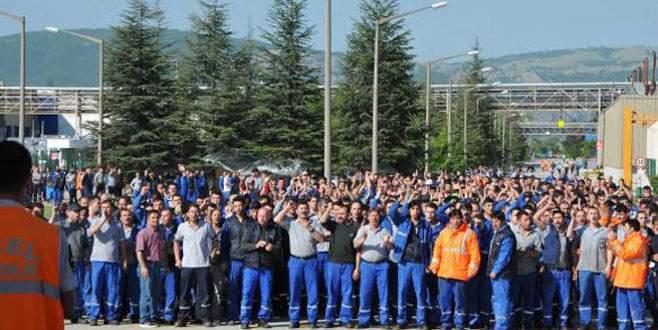 O fabrikada işçilerin eylemi sürüyor