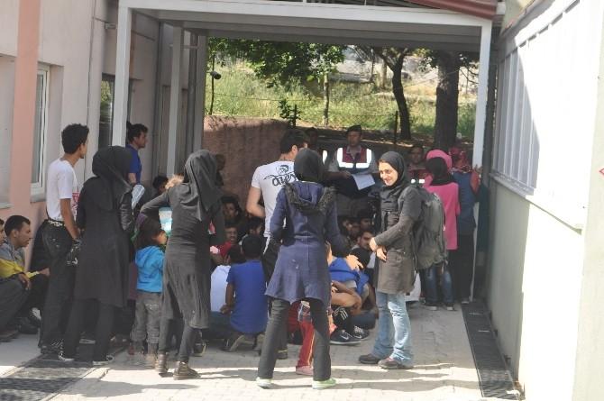 Ayvacık'ta 77 mülteci yakalandı