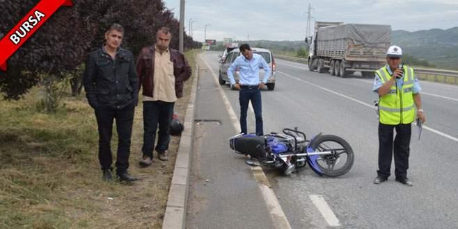 Bursa'da motosiklet sürücüsü ölümden döndü!