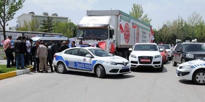CHP'nin seçim TIR'ına izin verilmedi