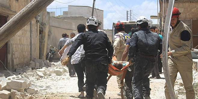 Halep'te varil bombalı saldırı: 54 ölü