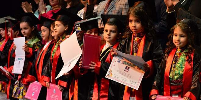 Yıldırım'da minikler diplomalarına kavuştu