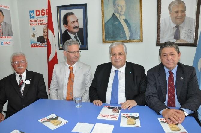 DSP Genel Başkanı Masum Türker Balıkesir'de