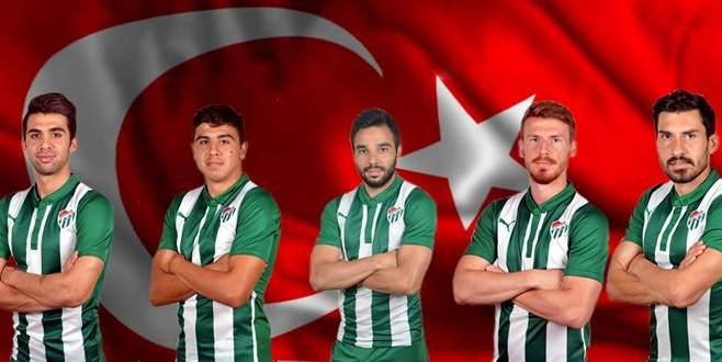 Bursaspor'da Milli Takım sevinci