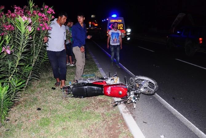 Erdemli'de Motosiklet Kazası: 1 Yaralı