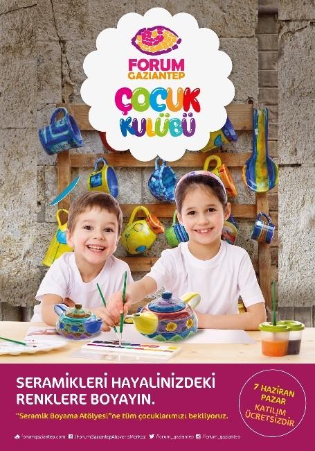 Forum Gaziantep'te Çocuklardan Rengarenk Seramikler
