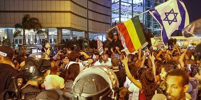 İsrail'de ırkçılık karşıtı protesto