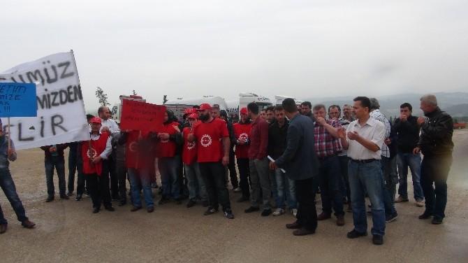 Sançim Çimento Fabrikası Çalışanlarından Eylem