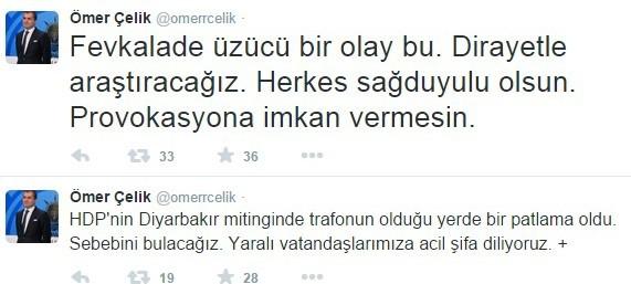 Bakanı Çelik'ten Patlamaya İlişkin Açıklama