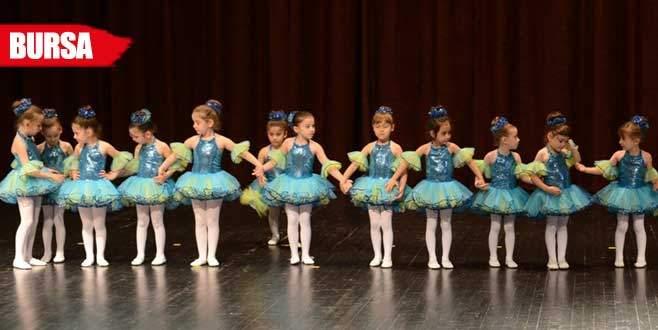 Nilüfer'de minik balerinler hünerlerini sergiledi