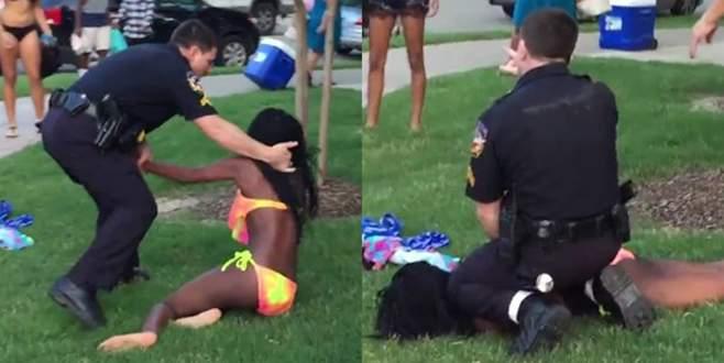ABD'de polis şiddeti bu kez havuz partisinde