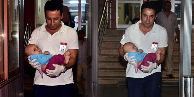 5 aylık bebeği bırakıp kaçtılar!