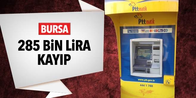 PTT'de 285 bin lira kayıp