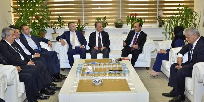 Başkan Edebali, Bulgaristanlı vekilleri ağırladı