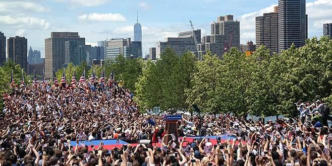 Clinton seçim mitinglerine New York'tan başladı