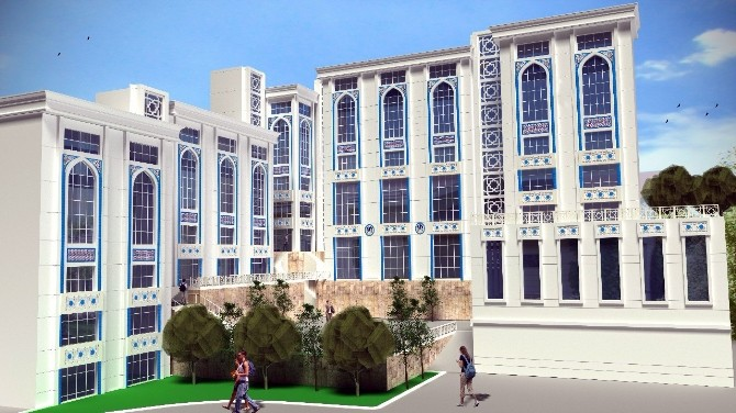Cumhurbaşkanı Erdoğan'ın Mezun Olduğu Okul İznik Çinisi İle Kaplanıyor