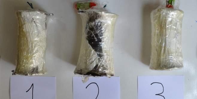 Sırt çantasında bomba taşımış!