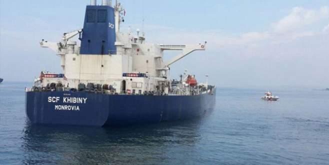 Ham petrol yüklü gemi İstanbul'da karaya oturdu!