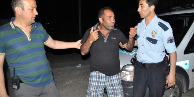 Alkollü sürücü yakalanınca ağladı
