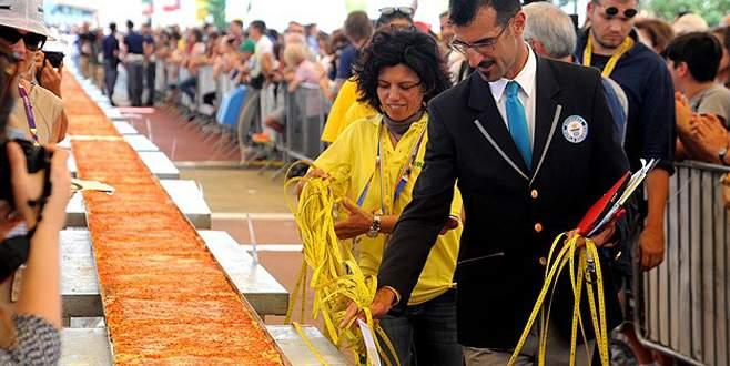 İtalyan pizzacılardan dünya rekoru