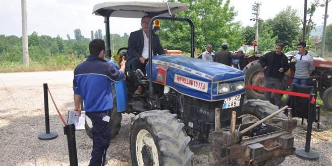 2 bin 550 traktör de muayeneden geçti