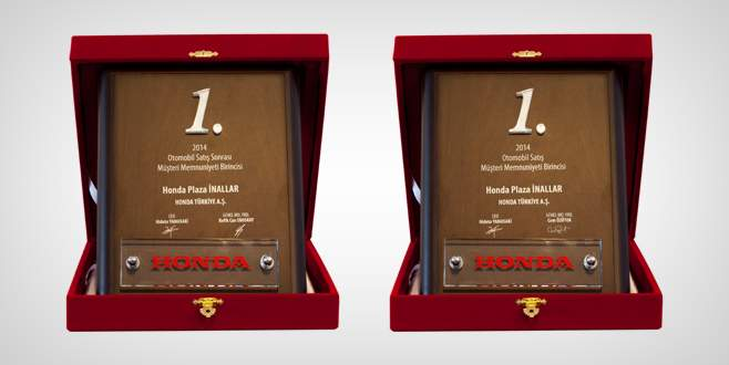 Honda İnallar'a iki ödül birden