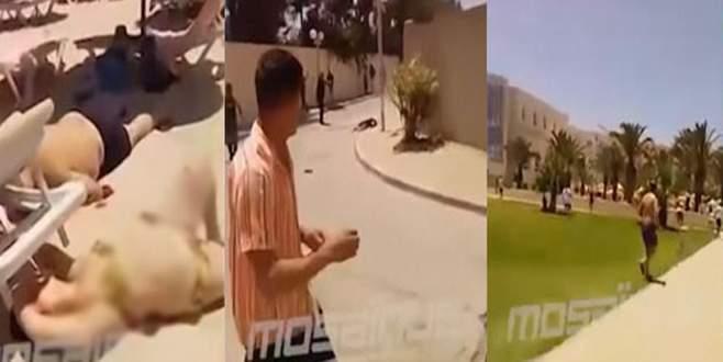39 kişinin öldüğü Tunus'taki otel saldırısı kamerada