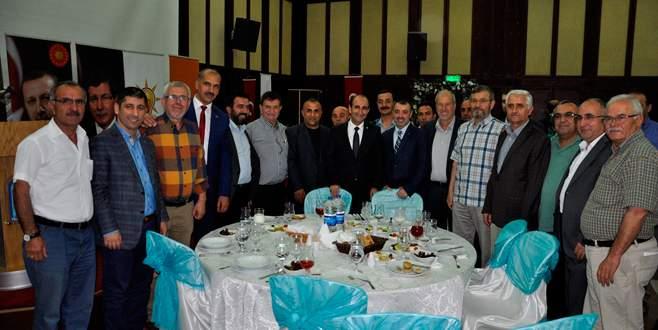 AK Parti Yıldırım'dan eski yöneticilere iftar