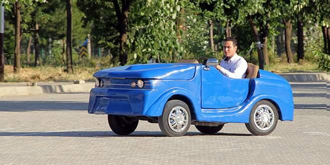 Harçlıklarıyla elektrikli araç ürettiler