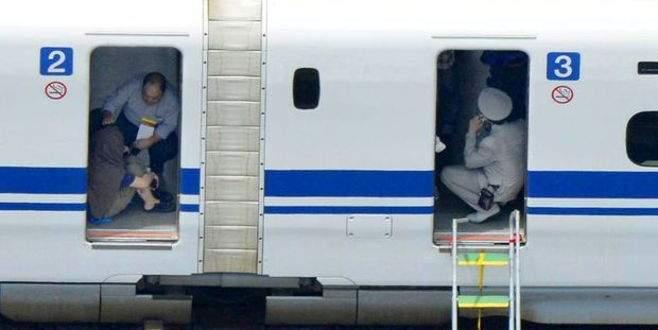Japonya'da hızlı tren yolcusu yangın çıkardı