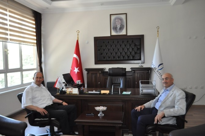 Kaymakam Kantay'dan Dekan Ataç'a 'Hayırlı Olsun' Ziyareti
