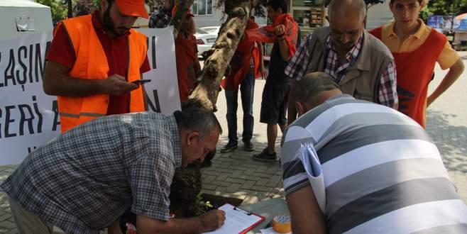 Ulaşım zammına imzalı protesto