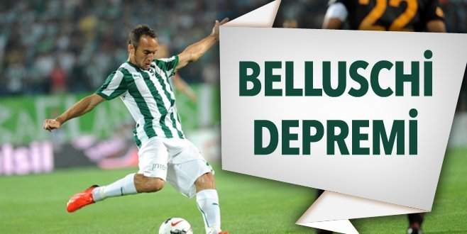 Bursaspor'da Belluschi depremi
