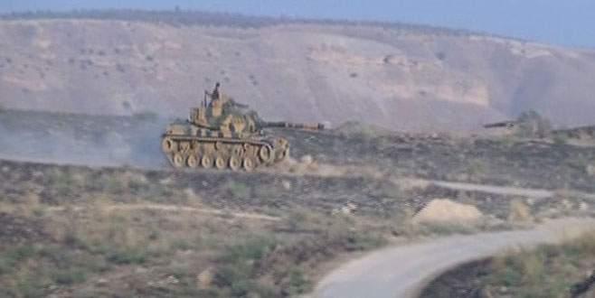 Türk tankını gören IŞİD militanları böyle kaçtı
