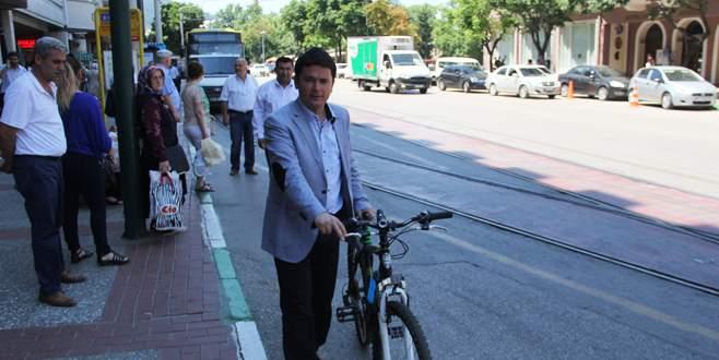 Ulaşım zammına bisikletli protesto
