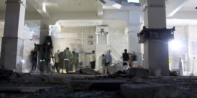 Camiye 'varil bombalı' saldırı