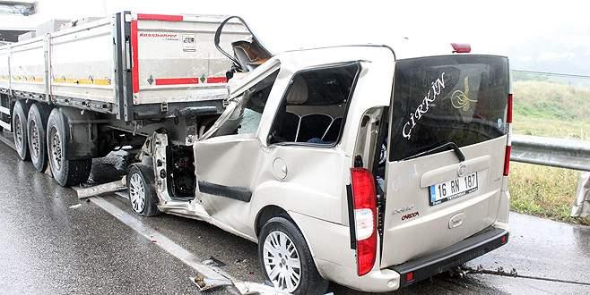 Bursalı sürücü feci kazada can verdi