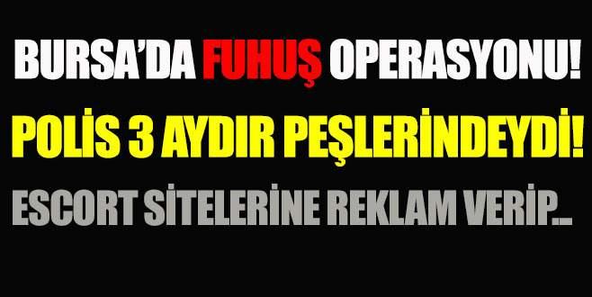 Bursa'da fuhuş operasyonu!