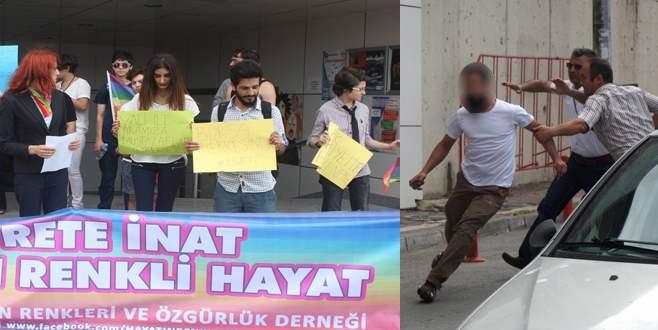 Bursa'da LGBT'lilere taşlı saldırı