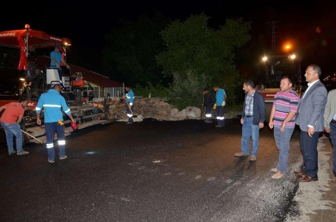 Suluova'da Eymir Caddesi Asfaltlanıyor