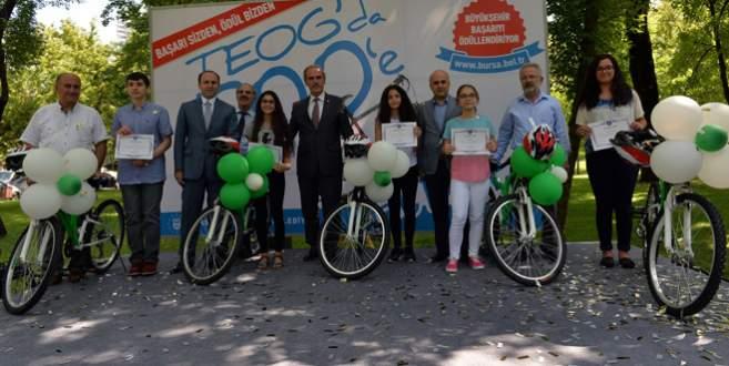 TEOG'da ilk 500'e giren öğrenciye bisiklet