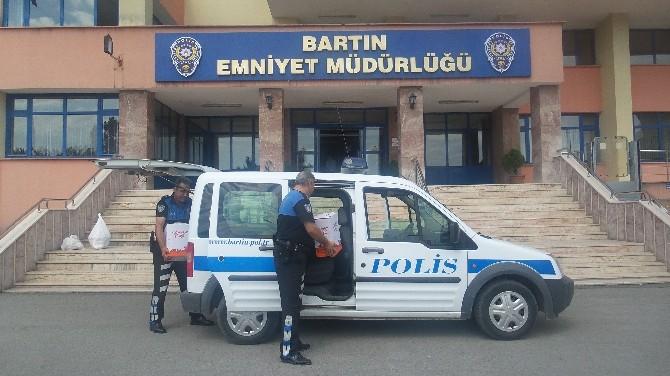 Bartın Polisinden 74 Aileye Yardım Paketi